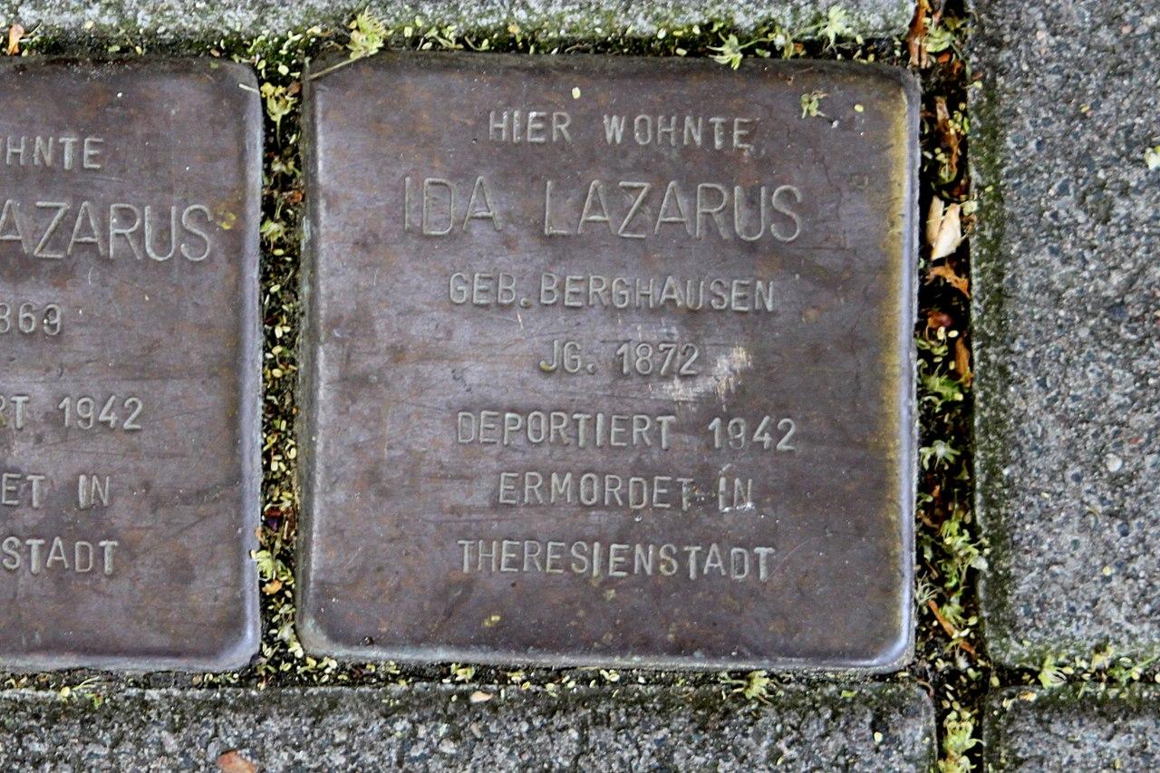 Stolperstein für Ida Lazarus geb. Berghausen