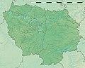 Ile-de-France region relief location map.jpg