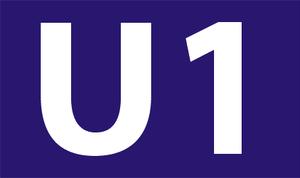 U1 (Nuremberg U-Bahn) - Logo U1