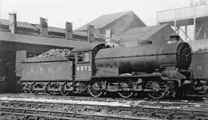 Immingham engine shed - LNER Class J39 at the shed (1947)