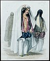 In The Streets, Preparing to go out, Caubul costumes, 1842.jpg