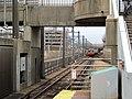 Inbound train approaching Massachusetts Avenue station, December 2011.jpg