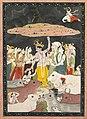 India, Pahari Hills, Kangra School, 18th century - Krishna Lifting Mt. Govardhana - 2001.45 - Cleveland Museum of Art.jpg