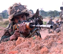 Indian Army soldier at Camp Babina