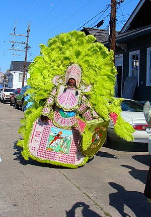 New Orleans Mardi Gras Indian