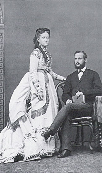 Isabella, Princess of Asturias (1851–1931) - Infanta Isabella and Prince Gaetan of two Sicillies. 1868.