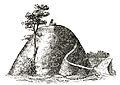 Inglinge-hög Hög med blotsten vid Ingelstad (Hyltén-Cavallius Wärend och Wirdarne (1864) s151.jpg