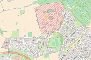 Imjin Barracks - Imjin Barracks (shaded) within Innsworth.