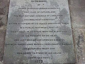 Lilleshall - Inscription on monument