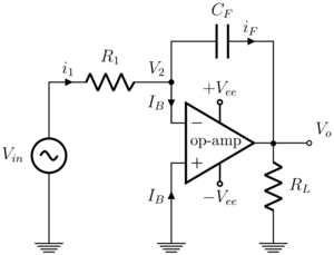 Charge amplifier - Integrator circuit