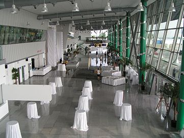 Interior, new terminal at Plovdiv Airport.JPG