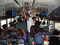 Interior de un autobús de pasajeros, de Antigua a la ciudad de Guatemala..JPG
