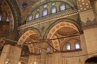 Mosques commissioned by the Ottoman dynasty - Image: Interior of Bayezid II Mosque