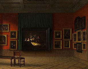 Interior of the Rembrandt Room in the Mauritshuis in 1884