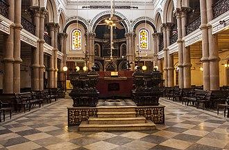 History of the Jews in Kolkata - Interiors in Magen David Synagogue, Kolkata