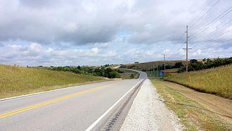 Iowa Highway 25 - Iowa 25 south of Guthrie Center