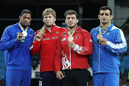 Iran's Rezaei Wins 98kg Bronze in Men's Greco-Roman Wrestling 13.jpg