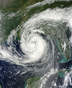 Isaac as a Category 1 hurricane on August 28, 2012