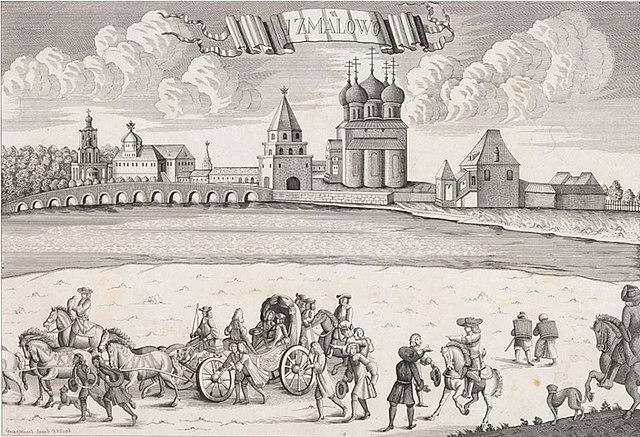 Зубов И. Ф. «Измайлово. Отъезд императора Петра II на соколиную охоту» (1727—1730).