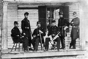 James S. Wadsworth - Brig. Gen. Wadsworth (seated, far right) and his staff
