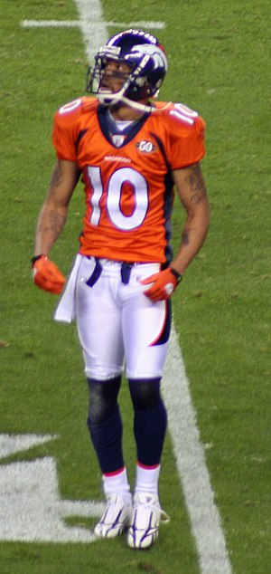 Jabar Gaffney - Gaffney during his time with Broncos.