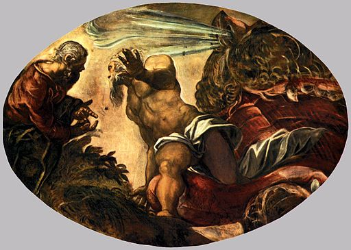 Jacopo Tintoretto - Jonah Leaves the Whale's Belly - WGA22543