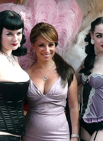 Jacqueline Gold - Jacqueline Gold (centre) at a photo shoot, New Oxford Street, London.