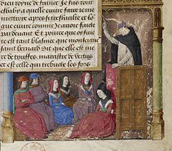 Jacques de Voragine prêchant - Légende dorée BNF Fr244 f1.jpg