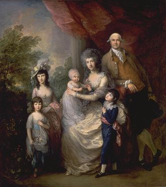 James Baillie (c. 1737–1793) - James Baillie's family, by Thomas Gainsborough, RA (c. 1784) (100 x 90 inches)