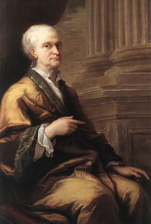 Banyan (clothing) - Image: James Thornhill Portrait of Sir Isaac Newton