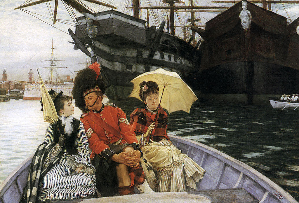 """Portsmouth Dockyard"" by James Tissot"