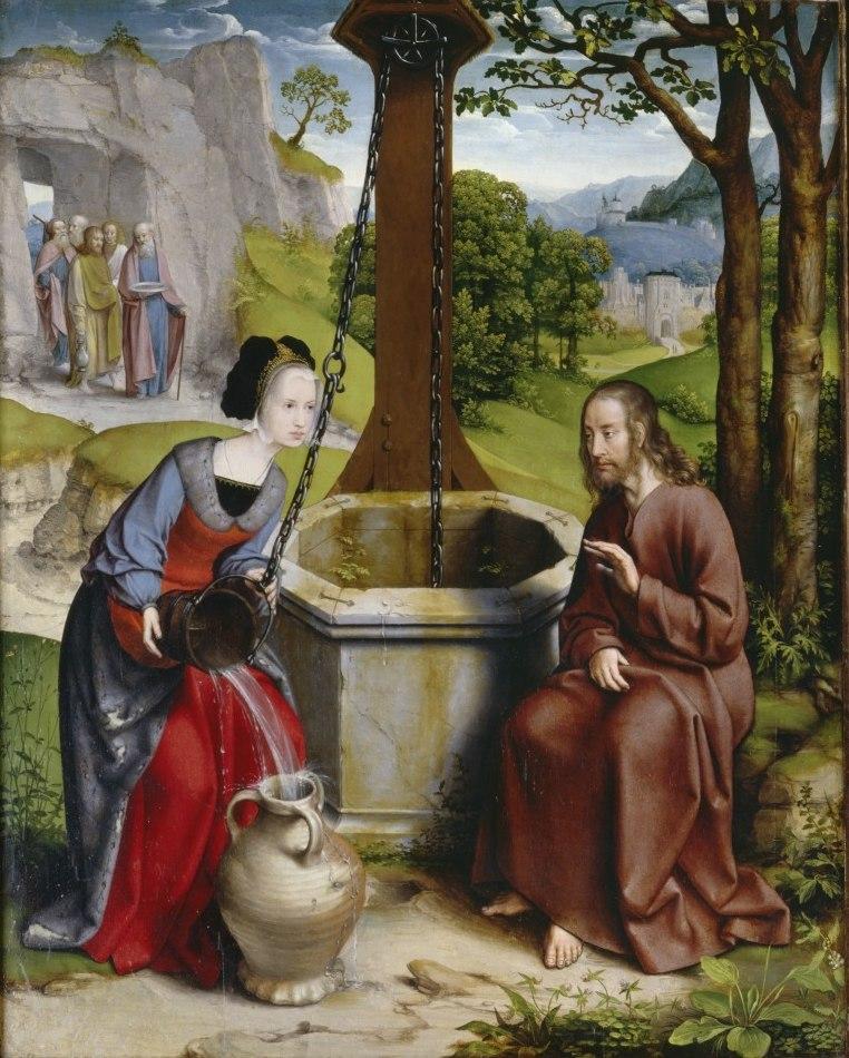 Jan Joest von Kalkar - Christus und die Samariterin am Jakobsbrunnen