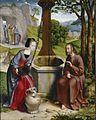 Jan Joest von Kalkar - Christus und die Samariterin am Jakobsbrunnen.jpg
