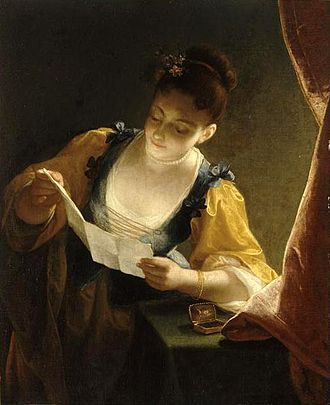 Jean Raoux - Young Woman Reading a Letter