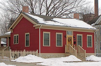 History of Saint Paul, Minnesota - William Dahl House (1858). Ninety percent of homes from this era were wood-frame construction