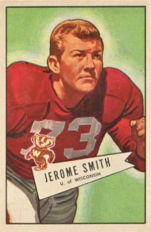 Jerry Smith (American football coach) - Smith on 1952 Bowman football card