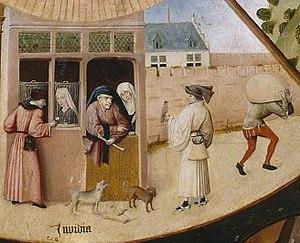 English: Table of the Mortal Sins Invidia (env...