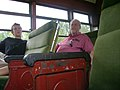 Jim and Trevor enjoy the ride at the Fox Valley Trolley Museum (2790920244).jpg