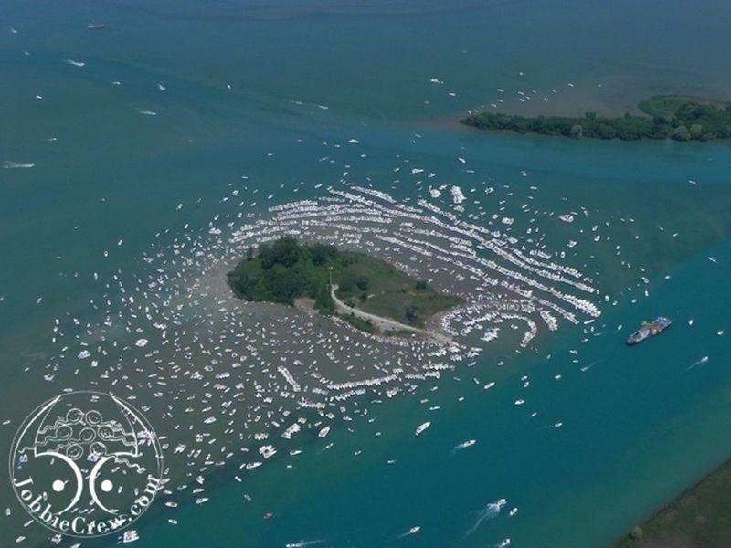 Map Lake St Clair Gull Island