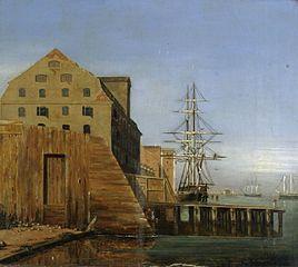 Havnepakhusene nord for Larsens Plads