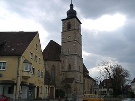 The Johanneskirche, built between 1398 and 1440, is one of the oldest buildings in Crailsheim