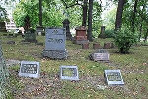 John Allen (pioneer) - Image: John Allen family memorial Cemetery Forest Hill Cemetery