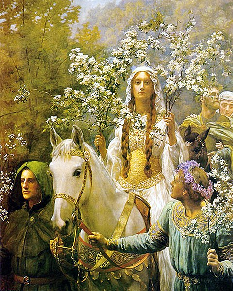 File:John Collier - Queen Guinevere's Maying.jpg
