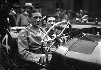 Vauxhall 30-98 - Début John Hancock of the Vauxhall team French Grand Prix Lyons 4 July 1914