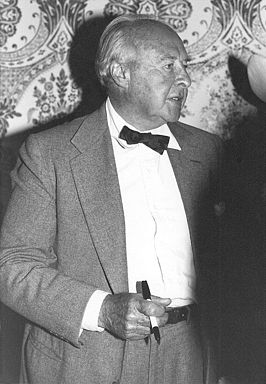 John Houseman op de National Film Society conventie in Los Angeles, mei 1979