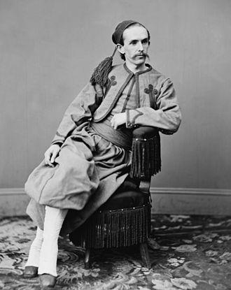Papal Zouaves - John Surratt in Papal Zouave uniform in Nantes, France, ca. 1866–1867