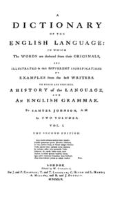 Dr. Johnson's Dictionary