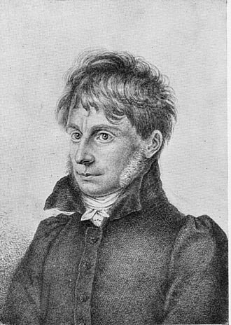 Joseph Görres - Lithograph of the young man by August Strixner, after a painting by Peter von Cornelius
