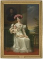 Josefina Maximiliana Eugenia Napoleana, 1807-1876, drottning av Sverige, med sonen Karl (XV) - Nationalmuseum - 33737.tif
