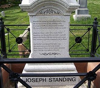 Joseph Standing - Image: Joseph Standing Grave South